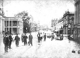 History of Brisbane - Flooding on Queen Street, 1893
