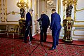 British Foreign Secretary Johnson, Secretary Kerry, and UN Special Envoy Ahmed Exit A Room After Addressing Reporters At Lancaster House in London (30065702950).jpg