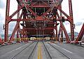 Broadway Bridge Portland - view from center of roadway towards open bascule span when fully raised, 2013.jpg