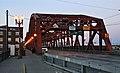 Broadway Bridge southwest end at dusk - Portland, Oregon.jpg