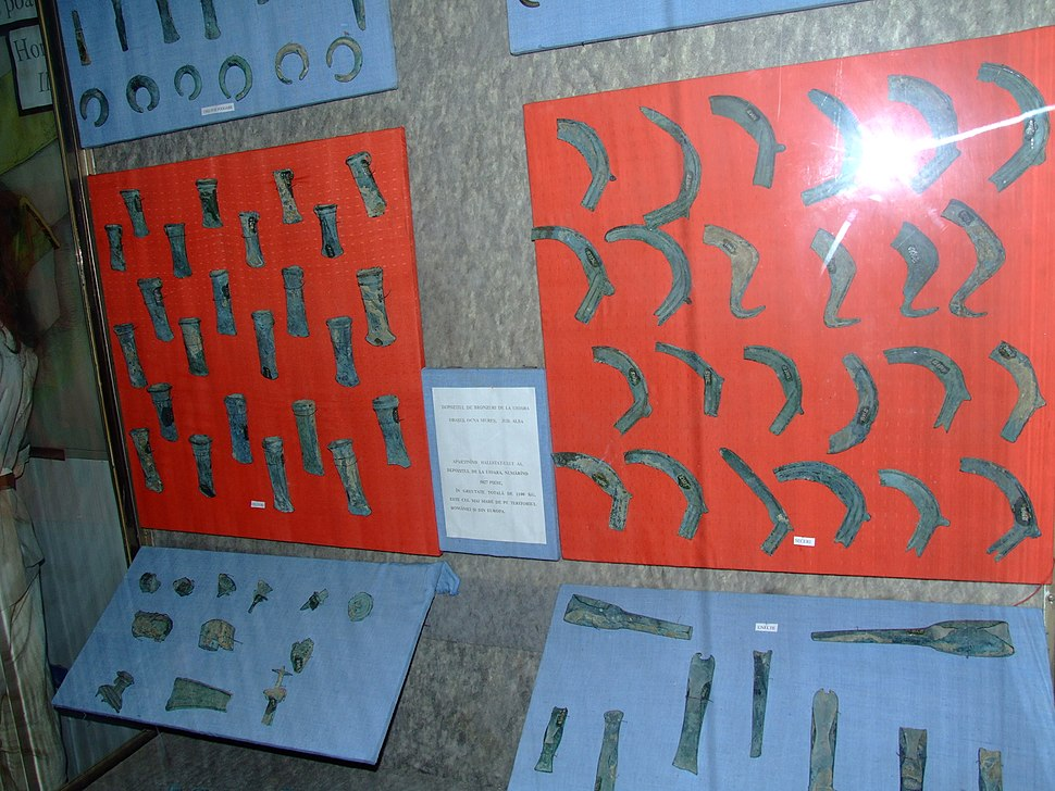 Bronze Age hoard of Uioara de Sus at the National Museum of Transylvanian History 2007