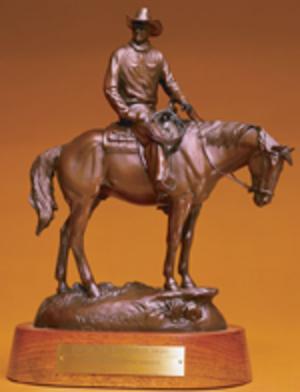 """Bronze Wrangler - """"The Wrangler"""" in bronze"""