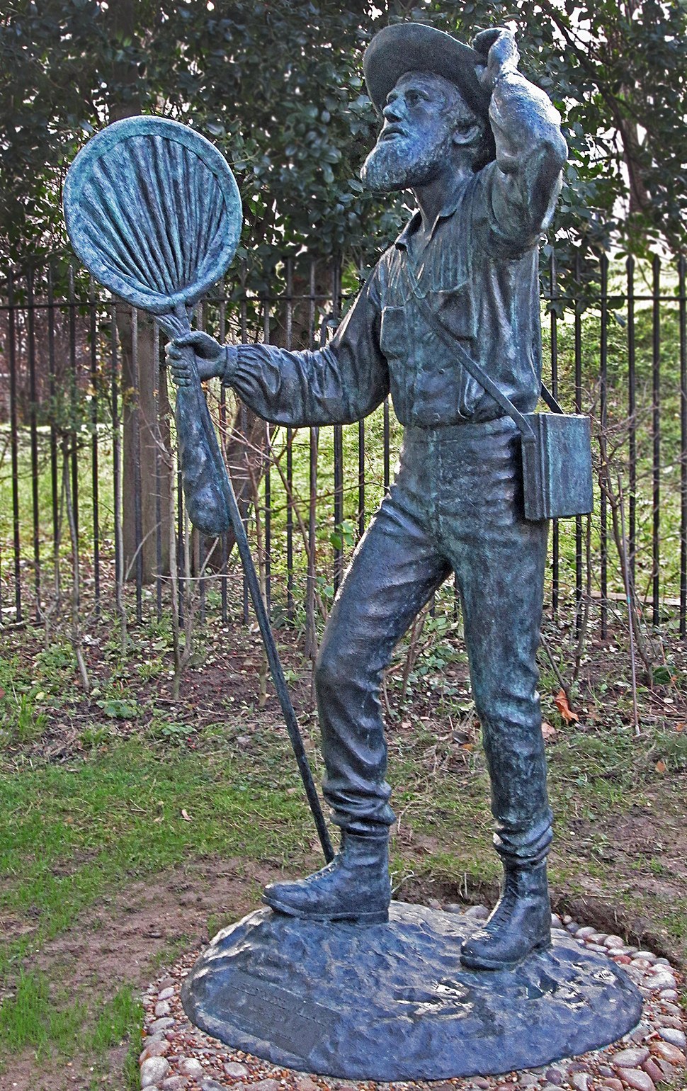 Bronze statue of Alfred Russel Wallace