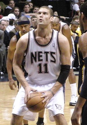 Brook Lopez - Lopez shooting a free throw in November 2009