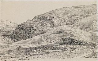 ''Valley of the Kedron Near Mar-Saba''