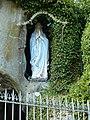 Bruley replique de la grotte de Lourdes statue.jpg