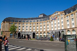 European Urban Renaissance - Europakruispunt and hotel constructed in the New Classical architecture style in the 1980's in Brussels to give the area back more historic urban appearance