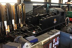 Buckfastleigh Workshop - 5526 without a boiler.JPG