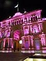 Buenos Aires - Monserrat - Arco sobre Balcarce de Casa Rosada nocturna.JPG