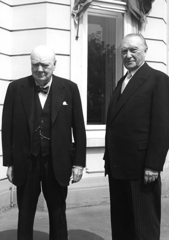 Bundesarchiv B 145 Bild-F003523-0001, Bonn, Winston Churchill und Konrad Adenauer