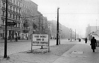 Bernauer Straße - Bernauer Straße in 1955