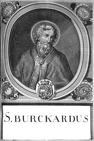 Burchard of Würzburg - Engraving by Johann Salver.