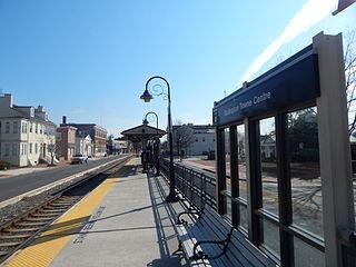 Burlington Towne Centre station train station in Burlington, New Jersey