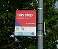 Burton Campbell Road Stony Lane bus stop flag.JPG