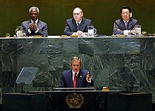Bush parla all'Assemblea Generale (2002)