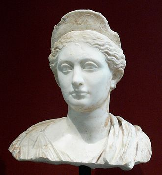 Adriano in Siria - Bust of Sabina (Collection of the Getty Center, Los Angeles)