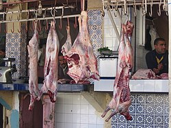 Butcher in Morocco.JPG