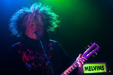 The Melvins' combination of doom metal, hardcore punk, and avant-garde approaches has been a key influence on post-metal bands. Buzz Osborne of The Melvins Live @ Slim's 01.jpg
