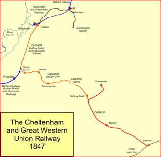 Cheltenham and Great Western Union Railway - Image: C&gwur