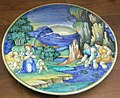 C.sf., urbino, pittore di marsia di milano, tondino con latona e i lici 1525-1535 circa.JPG