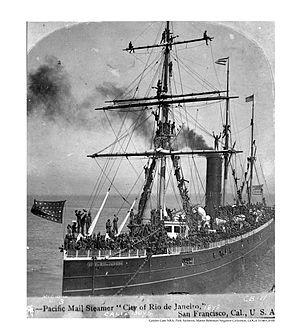 SS City of Rio de Janeiro - Image: CA boys on board the city of rio de janeiro mail steamer 1898