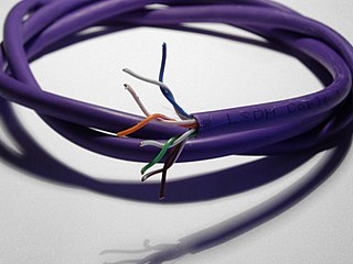 Category 5 cable twisted pair cable for carrying signals