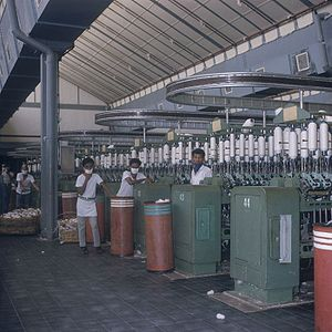 Units of textile measurement - Yarn spinning factory