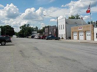 Cabery, Illinois - Main Street in Cabery