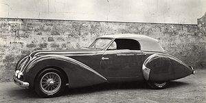 "Alpine Rally - The Delahaye 135 was nicknamed the ""Coupe des Alpes"" model due to the car's success in the event."