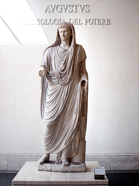 Statue of Augustus as Pontifex from Wikipedia