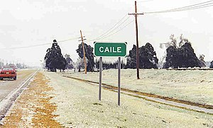 Caile, Mississippi - Image: Caile Sign