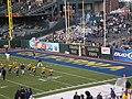 Cal end zone at 2008 Emerald Bowl.JPG