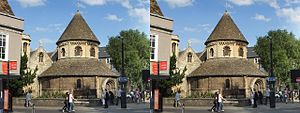 Holy Sepulchre, Cambridge - The Round Church and the south end of Round Church Street.
