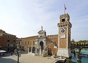 Venetian Arsenal - The Porta Magna at the Venetian Arsenal.