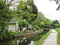 Canal, cottage and bridge at Llangollen - geograph.org.uk - 1307633.jpg