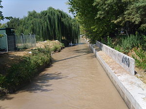 Drought in Chile - San Carlos Canal in picture begun to be built in 1772 in response to years of drought.