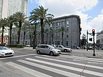 Canal Street New Orleans CBD view from end of Tchoupitoulas Street May 2019 02.jpg