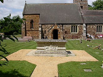 Ivor Guest, 1st Baron Wimborne - Guest's tomb at Canford Magna Parish Church