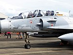 Canopy of ROCAF Mirage 2000-5DI 2060 Display at Chiayi AFB Apron 20120811.jpg