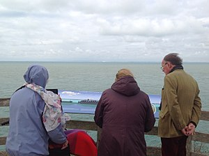 Cap Gris-Nez - A view of the English coastline from the viewing platform at Cap Gris-Nez