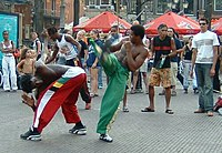 Capoeira, an Afro-Brazilian martial art.