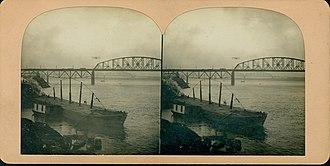 Thomas Scott Baldwin - Baldwin flying near the McKinley Bridge
