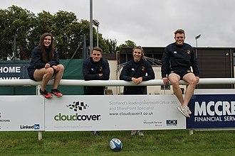Hillhead Jordanhill RFC - 2018-19 Captains at CloudCover IT Sponsors Board