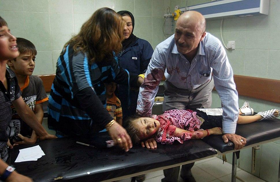 Car bomb victim in Iraq