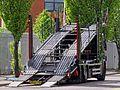 Car transporter truck, Walthamstow Avenue, London Borough of Waltham Forest, England.jpg