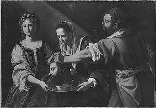 Salome empfängt das Haupt des Johannes (Nachfolger)
