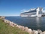 Caribbean Princess at Pier 24 in Tallinn 10 August 2015.JPG