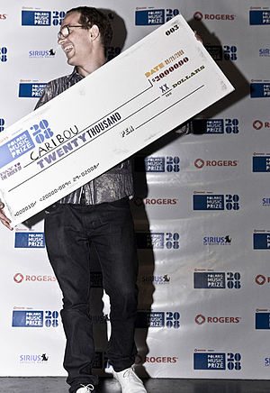 Polaris Music Prize - Caribou at the Polaris Music Prize gala in 2008