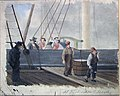 Carl Frederik Diriks - Sailship being unloaded at the Quai - NG.M.03099 - National Museum of Art, Architecture and Design.jpg