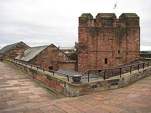 Listed buildings in Carlisle, Cumbria - Image: Carlisle Castle geograph.org.uk 957673